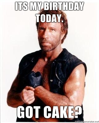 Today us Chuck Norris' birthday
